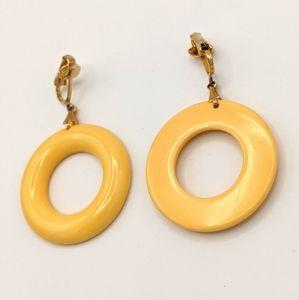 VTG Bakelite TESTED MCM Banana Donut Hoops